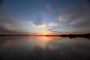 sunset on the river landscape