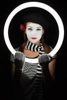 Portrait of mime photo
