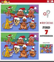 Differences educational task for kids with dogs vector