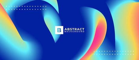 Multicolor Abstract Curved Shapes Wave Background