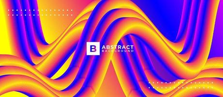 Multicolor Abstract Tube Line Blend Background vector