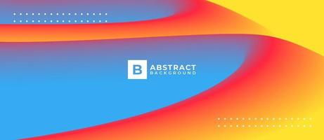 Multicolor Bright Abstract Blend Shape Background vector