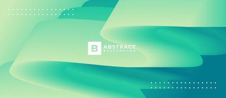 Light Green Wave Abstract Shape Background vector