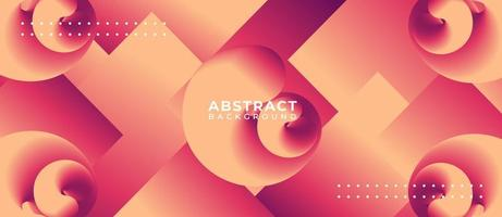 Abstract Swirl Shape Orange Pink Gradient Background