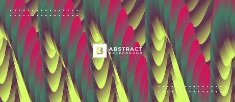 Multicolor Neon Yellow Pink Wave Abstract Background vector