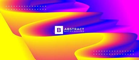 Multicolor Curve Wave Abstract Background