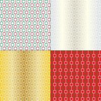 Abstract geometric Christmas patterns
