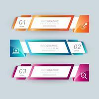 Banner infographic presentation design set