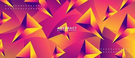 Fondo de forma de polígono multicolor vector