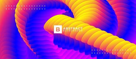 Multicolor Curved Shape Abstract Background