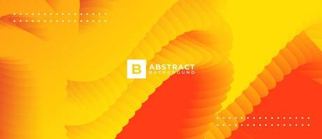 Abstract Orange Yellow Blend Wave Shape Background vector