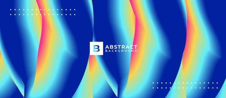 Blue Multicolor Shape Blend Abstract Background