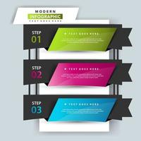 3 step infographic illustration template vector