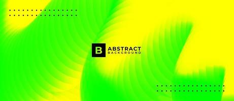 Neon Green Yellow Multicolor Wave Abstract Background vector