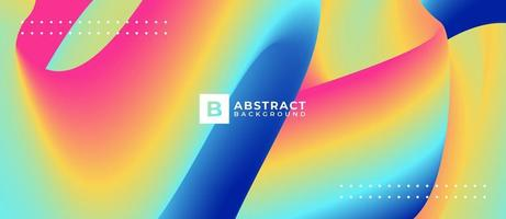 Multicolor Blend Shape Wave Abstract Background vector