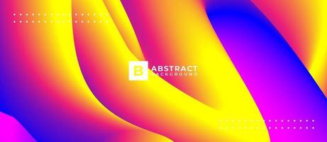 Abstract Yellow Pink Multicolor Blend Wave Background vector