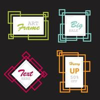 Abstract shape banner frame collection