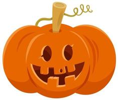 Cartoon Halloween Jack o lantern pumpkin