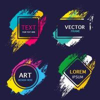 Watercolor banners collection vector
