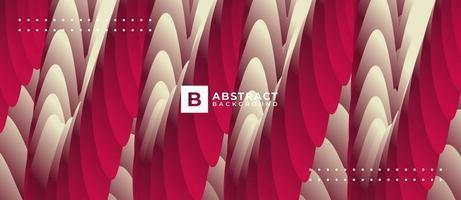 Fondo abstracto de onda roja blanca abstracta vector