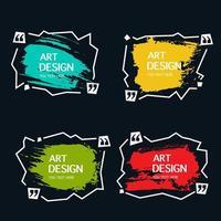 Zigzag line watercolor banners vector