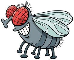 dibujos animados de carácter de insecto mosca vector