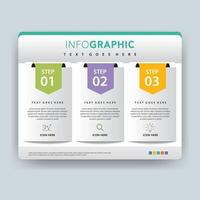 Folder infographic vector illustration design