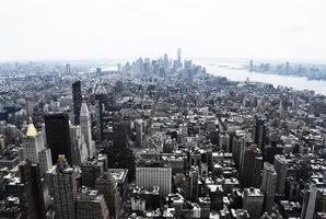 foto de vista de pájaro del paisaje de la ciudad