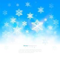 Winter Snowflake Design with Copy Space