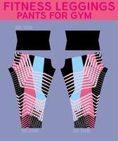 Fitness leggings pattern for gym vector