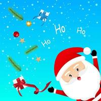 Santa Claus with Christmas elements vector