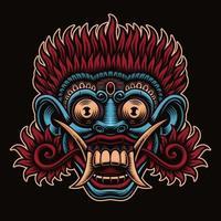 Traditional Indonesian Barong mask vector