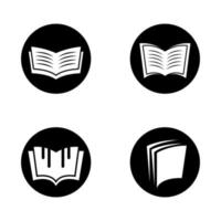Circular book logo set