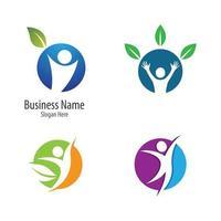 Nature life logo set vector