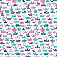 coronas de colores retro de patrones sin fisuras
