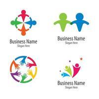 Community care logo set vector