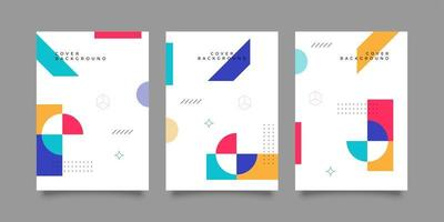 Editable colorful modern shape corporate banner templates vector