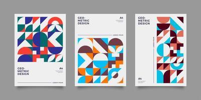 Retro book cover collection vector