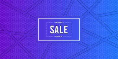 Blue Crisscrossed Strips End of Season Sale Banner