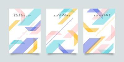 cubierta de papelería empresarial con formas abstractas en colores pastel vector