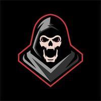 Hooded skeleton design vector