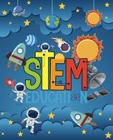 educación básica con astronautas vector