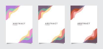 conjunto de marco abstracto líquido