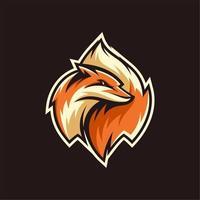 diseño de mascota de cola de zorro vector
