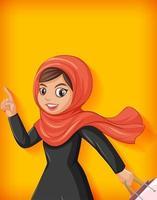hermosa dama árabe personaje de dibujos animados vector