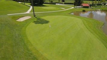 aérea: campo de golfe