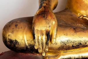 Old Golden Buddha Statue Hand