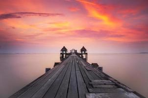 Wooded bridge i