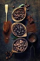 composición del café foto