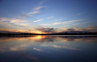 Alluring Sunset on the lake photo